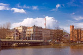 Panoramic view on Ostrow Tumski in Wroclaw, Poland — Stock Photo