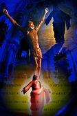 耶稣在十字架 — 图库照片