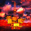 Oil rig platform — Stock Photo #15869993