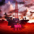 Oil rig platform — Stock Photo #15875071