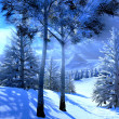 Stockfoto: Christmas, magical forest