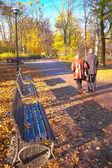 Senior couple in the park — Foto Stock