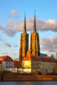 Gothic Cathedral in Wroclaw, Poland — Stock Photo