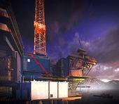 Piattaforma di impianto di perforazione petrolifera — Foto Stock