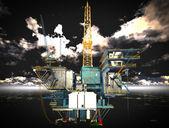 Petrol sondaj platformu platformu — Stok fotoğraf
