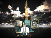 石油钻机平台 — 图库照片