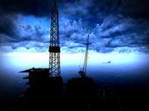 нефть буровой платформы — Стоковое фото