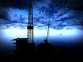 Oil rig platform — Stock Photo