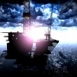 Stock Photo: Oil rig platform