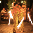 Fire Dancers , July 08, 2008 in Wroclaw, Poland — Stock Photo