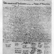 Stock Photo: Declaration of Independence