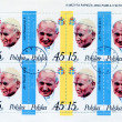 John Paul II on Polish   postage stamp - Stock Photo