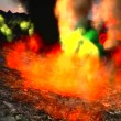 Awesome volcanic eruption on the island — Stock Video
