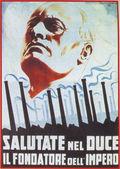 Benito Mussolini shown on Nazi poster — Stock Photo