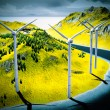Wind turbines onshore — Stockfoto #20356465