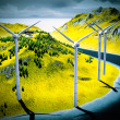 Wind turbines onshore — Stock Photo #20356465