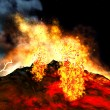 Stock Photo: Volcanic eruption