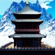 Buddhist temple in mountains — Stock Photo #20871281