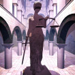 Themis the Justice symbol - Stock Photo