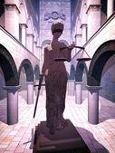 Têmis, símbolo da justiça — Fotografia Stock