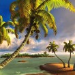 Tropical paradise beach — Stock Photo #21730163