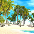 Tropical paradise beach — Stock Photo #21731491