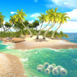 Tropical paradise beach — Stock Photo