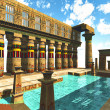 Egyptian swimming pool — Stockfoto
