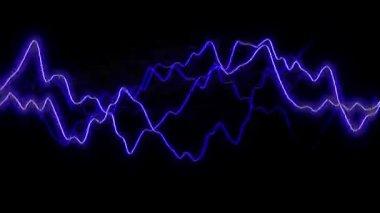 Blue lightning flash background discharge — Stock Video