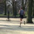 Stock Video: Male jogger