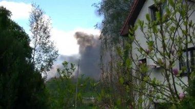 Destruction scene in city — Stock Video