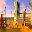 Construction site with various machines — Stock Photo #22926588