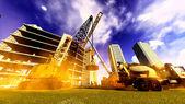 Construction site with various machines — Foto de Stock