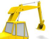 Yellow excavator — Stock Photo