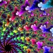 图库视频影像: Abstract fractal background