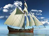 пират бригантина — Стоковое фото