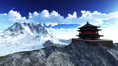 Sun temple - buddhistiska helgedom — Stockfoto