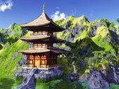 Sun temple - Buddhist shrine — Stock Photo