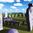 Stock Photo: Stonehenge sanctuary