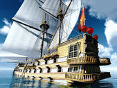 Pirate brigantine — Stock Photo