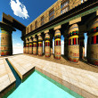 Egyptian temple - Stock Photo