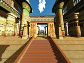 Egyptian temple — Stock Photo