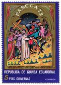 Francesca motivi religiosi sul francobollo — Foto Stock