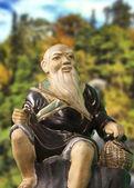 Chinese monk statue — Stock Photo