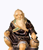 Buddhist monk statue — Stock Photo