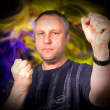 Tai chi instructor — Stock Photo