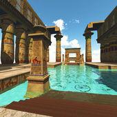 Egyptian temple — Stock Photo