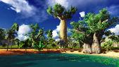 アフリカ バオバブ — ストック写真