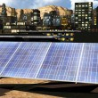 Solar panels in city — Stockfoto