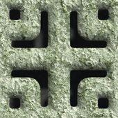 Skorodowane kwadratowy otwór — Zdjęcie stockowe